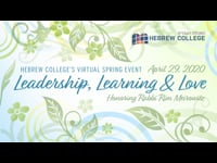 Hebrew College Virtual Event: Leadership, Learning & Love